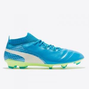 Puma One 17.1 Firm Ground Football Boots – Atomic Blue/White/Safety Ye