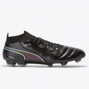 Puma One 17.1 Firm Ground Football Boots – Black/Black/Silver