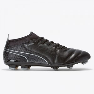 Puma One 17.2 Firm Ground Football Boots – Black/Black/Silver