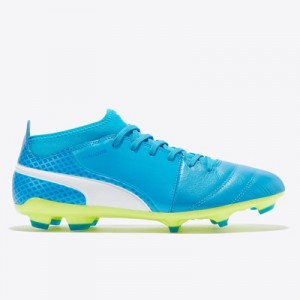 Puma One 17.3 Firm Ground Football Boots – Atomic Blue/White/Safety Ye