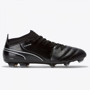 Puma One 17.3 Firm Ground Football Boots – Black/Black/Silver