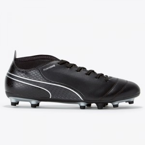Puma One 17.4 Firm Ground Football Boots – Black/Black/Silver