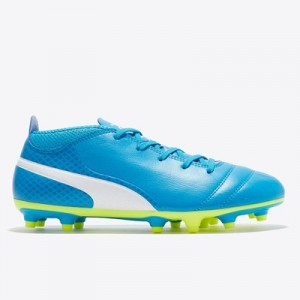 Puma One 17.4 Firm Ground Football Boots – Atomic Blue/White/Safety Ye