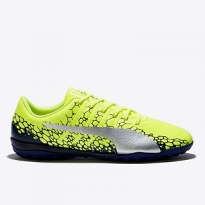 Puma evoPOWER Vigor 4 Graphic Astroturf Trainers – Safety Yellow/Silve