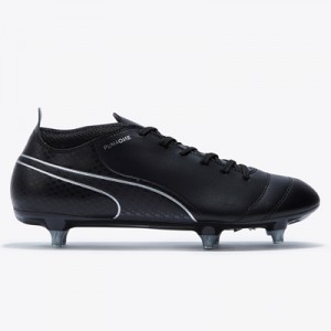 Puma One 17.4 Soft Ground Football Boots – Black/Black/Silver