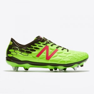 New Balance Visaro 2.0 Pro Soft Ground Football Boots – Energy Lime/Mi