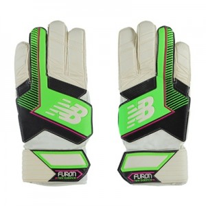 New Balance Furon Dispatch Goalkeeper Gloves – White/Green