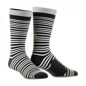 adidas Tango Training Socks – White/Black/Solar Yellow
