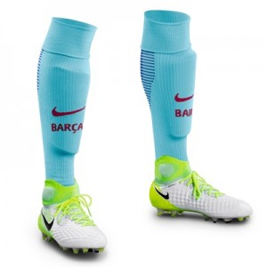 Barcelona Away Vapor Match Socks 2017-18