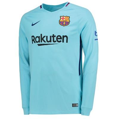Barcelona Away Stadium Shirt 2017-18 – Long Sleeve