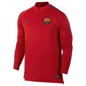 Barcelona Squad Drill Top – Red
