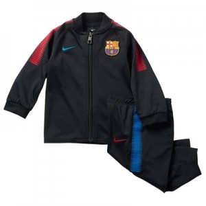 Barcelona Squad Knit Tracksuit – Black – Infants