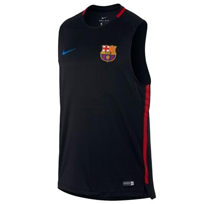 Barcelona Squad Sleeveless Training Top – Black