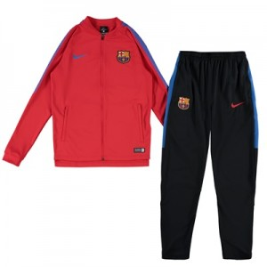 Barcelona Squad Knit Tracksuit – Red – Kids