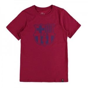 Barcelona Crest T-Shirt – Red – Kids