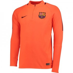 Barcelona Squad Drill Top – Orange