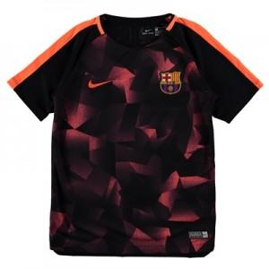 Barcelona Squad Pre Match Top – Black – Kids