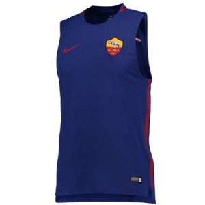 AS Roma Squad Sleeveless Training Top – Royal Blue
