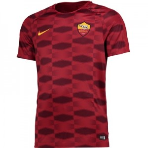 AS Roma Squad Pre Match Top – Red