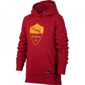 AS Roma Core Hoodie – Red – Kids