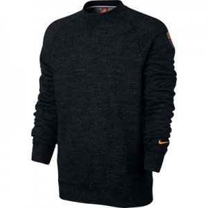 AS Roma Authentic Crew Sweatshirt – Black