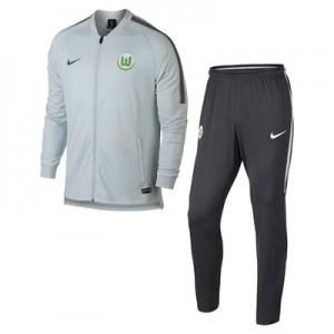 VfL Wolfsburg Squad Knit Tracksuit – Grey