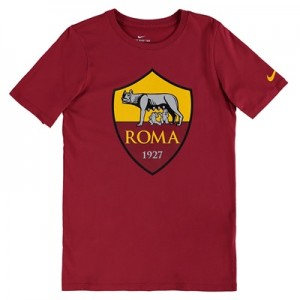 AS Roma Ever Green T-Shirt – Red – Kids
