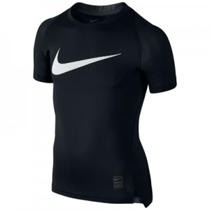 Nike Pro Combat Baselayer Top – Black/White – Kids