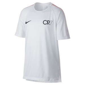 Nike CR7 Dry Squad Training Top – White/Blue Tint/Black – Kids