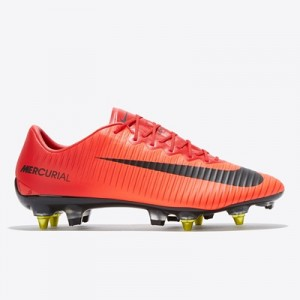 Nike Mercurial Vapor XI Anti-Clog Soft Ground Pro Football Boots – Red