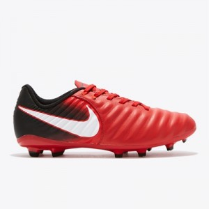 Nike Tiempo Ligera IV Firm Ground Football Boots – Red – Kids