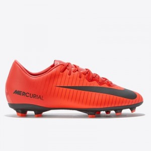 Nike Mercurial Vapor XI Firm Ground Football Boots – Red – Kids