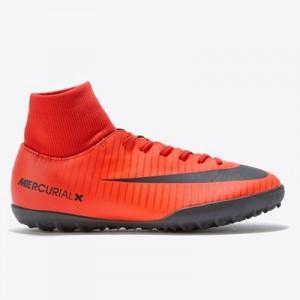 Nike Mercurial Victory VI Dynamic Fit Astroturf Trainers – Red – Kids