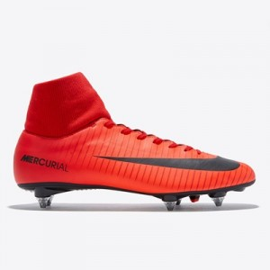 Nike Mercurial Victory VI Dynamic Fit Soft Ground Football Boots – Red