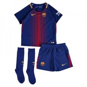 Barcelona Home Stadium Kit 2017/18 – Little Kids – Unsponsored