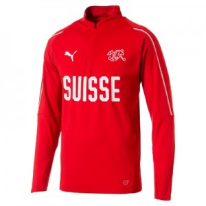 Switzerland Training 1/4 Zip Top – Red