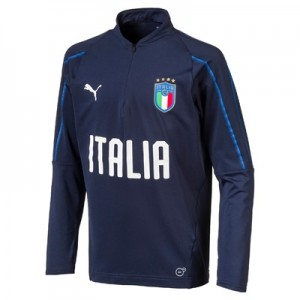 Italy Training 1/4 Zip Top – Navy – Kids