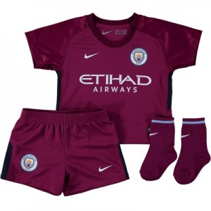 Manchester City Away Stadium Kit 2017-18 – Infants