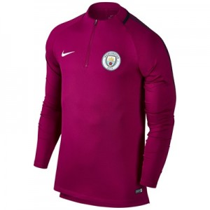 Manchester City Squad Drill Top – Maroon