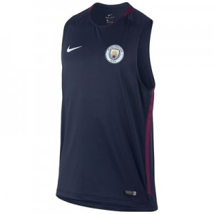 Manchester City Squad Training Sleeveless Top – Navy