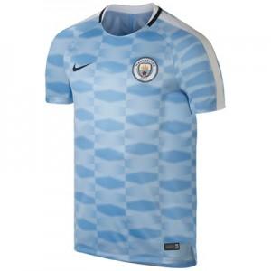Manchester City Squad Pre-Match Training Top – Light Blue