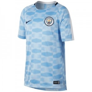 Manchester City Squad Pre-Match Training Top – Light Blue – Kids