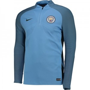 Manchester City Strike Aeroswift Drill Top - Light Blue