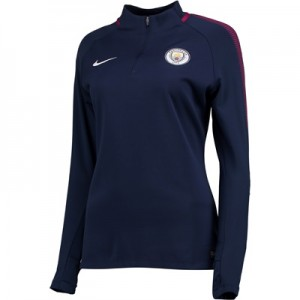 Manchester City Squad Drill Top – Navy – Womens