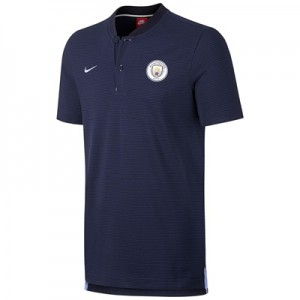 Manchester City Authentic Grand Slam Polo – Navy