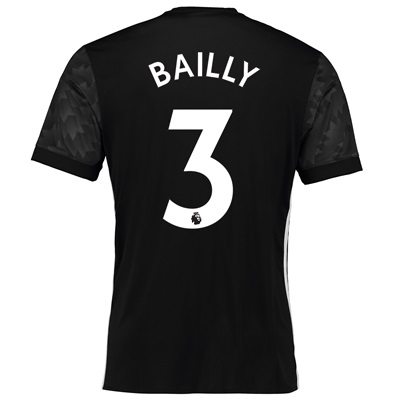 Manchester United Away Shirt 2017-18 with Bailly 3 printing