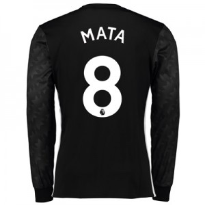 Manchester United Away Shirt 2017-18 – Long Sleeve with Mata 8 printin