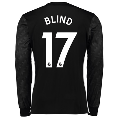 Manchester United Away Shirt 2017-18 – Long Sleeve with Blind 17 print