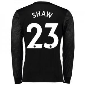 Manchester United Away Shirt 2017-18 – Long Sleeve with Shaw 23 printi