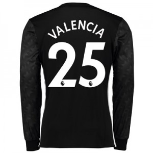 Manchester United Away Shirt 2017-18 – Long Sleeve with Valencia 25 pr